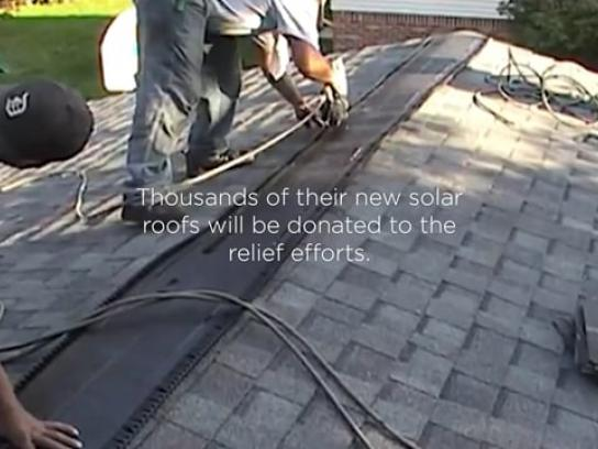 Tesla Experiential Ad - The Solar Roof Trade