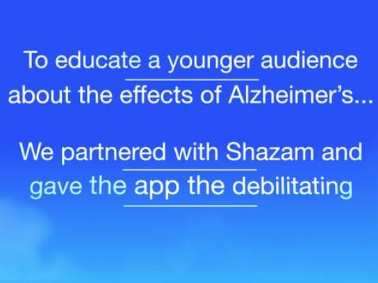 Alzheimer's Research UK Digital Ad - The day Shazam forgot