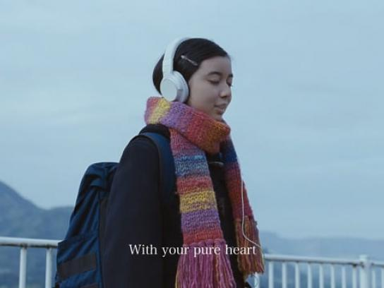 Gogo no kocha Film Ad - I miss you means I want to warm you up