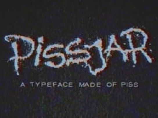 Pissjar Design Ad - A typeface made of piss