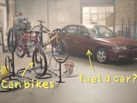 Morrisons Film Ad -  Can bikes fuel a car?