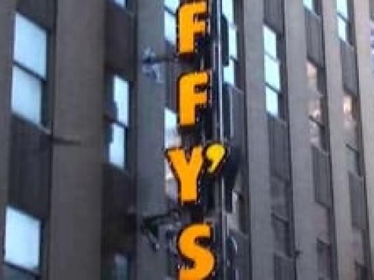 Daffy's Ambient Ad -  Peep show on Times Square