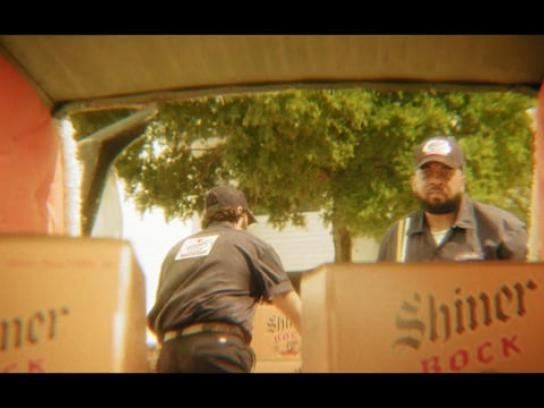 Shiner Bock Film Ad - Hearse