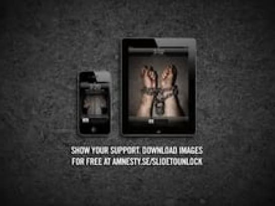 Amnesty International Digital Ad -  iPhone Wallpaper chains