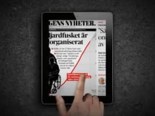 Amnesty International Digital Ad -  iPad ad bars