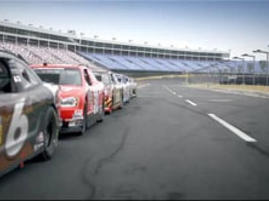 Nascar Film Ad -  Tram at the Track