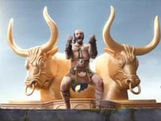 Hardee's Film Ad -  Hamblor, God of Hamburgers