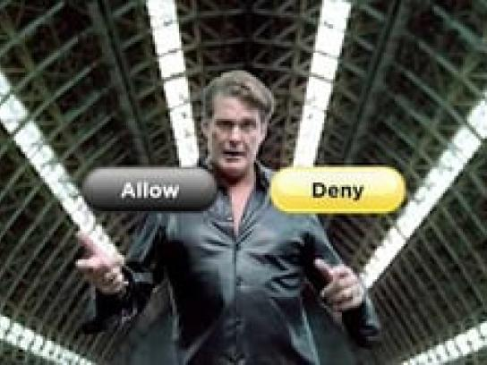 Symantec Film Ad -  Fan Falls for Hoff