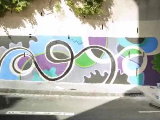 Dulux Film Ad -  Animated mural music video