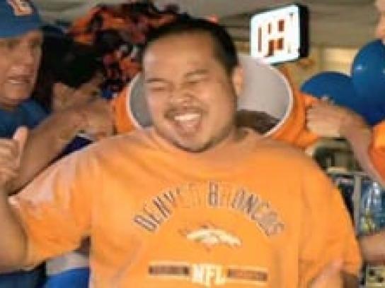 Colorado Lottery Film Ad -  Broncos Champion Shower
