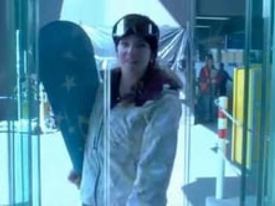 Laax Snowboard School Ambient Ad -  Elevator, Salto for beginners