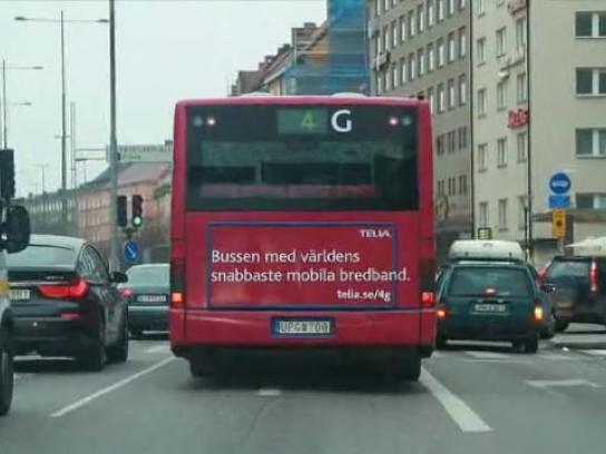 Telia Ambient Ad -  4G bus
