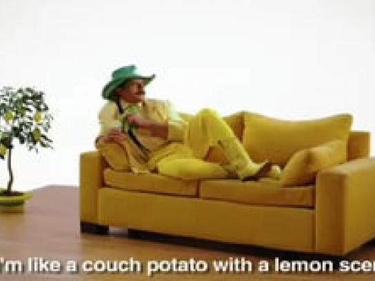 Pine-Sol Film Ad -  Get to work!, Lemon