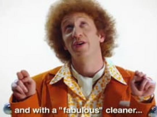 Pine-Sol Film Ad -  Get to work!, Orange
