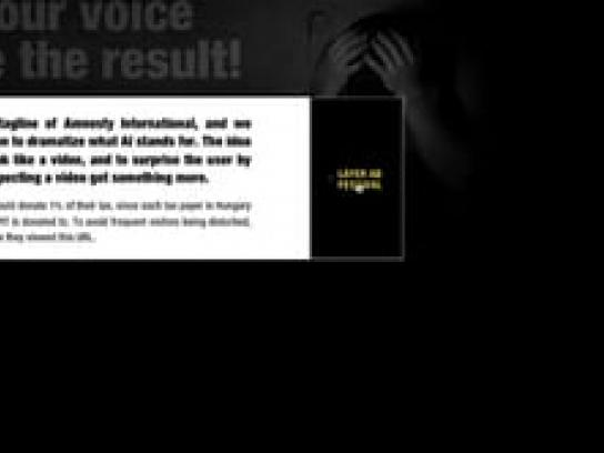 Amnesty International Digital Ad -  1% donation