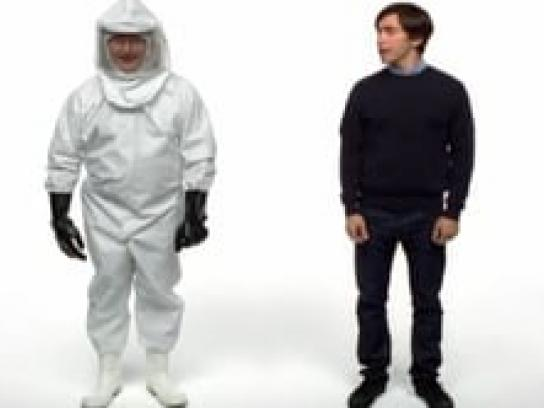 Apple Film Ad -  Biohazard suit