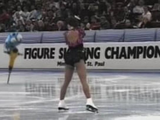 Kleenex Digital Ad -  Figure skater
