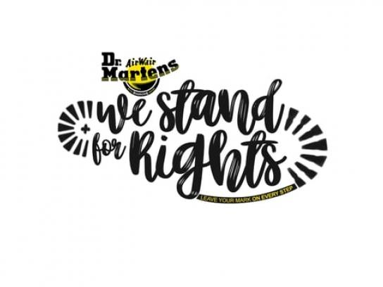 Dr. Martens Outdoor Ad - Stand for Rights