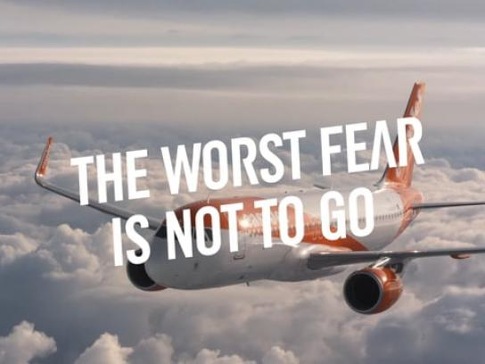 EasyJet Experiential Ad - The worst fear is not to go