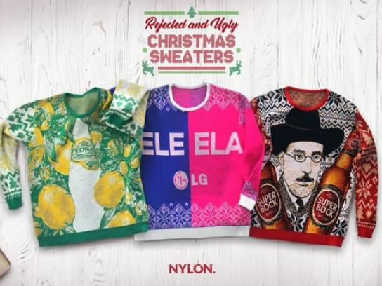 Nylon Film Ad - Rejected and Ugly Christmas Sweaters