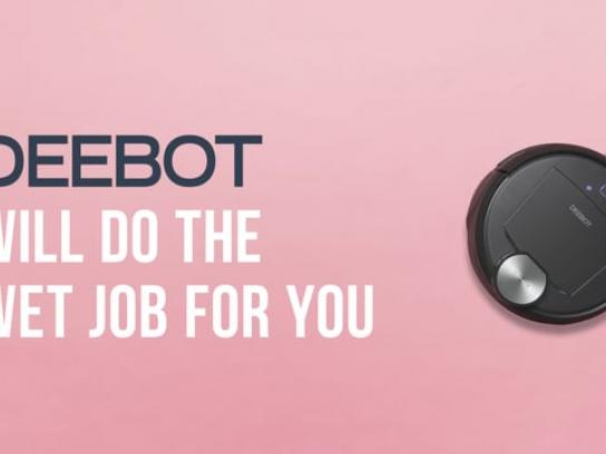 Deebot Digital Ad - Сrunching every day? Deebot every day!