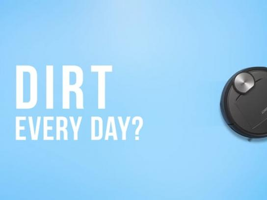 Deebot Digital Ad - Dirt every day? Deebot every day!