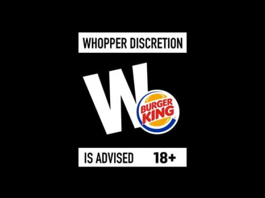 Burger King Integrated Ad - Whopper Discretion Advised