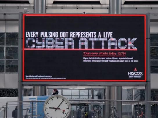 Hiscox Outdoor Ad - Cyber Live