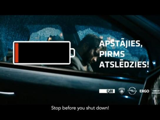 Road Traffic Safety Department Latvia Film Ad - Stop Before You Shut Down!