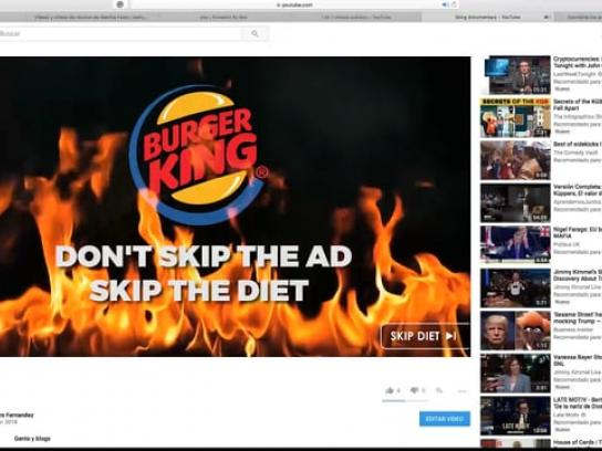 Burger King Film Ad - Skip The Diet, Not The Ad