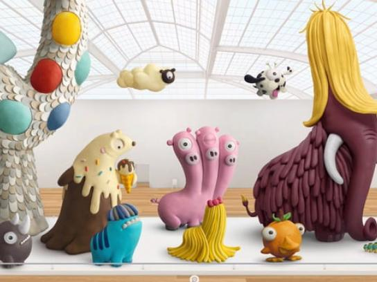 Play-Doh Digital Ad - The Gallery of Emerging Species