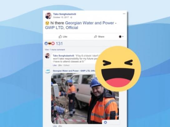 Georgian Water and Power Digital Ad - Thirsty Tags