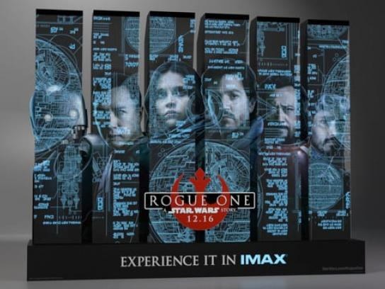 Rogue One: A Star Wars Story Design Ad - Rogue One: A Star Wars Story Acrylic Theatrical Display