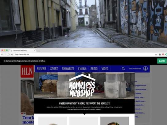 Solidarité Grands Froids Digital Ad - The Homeless Webshop