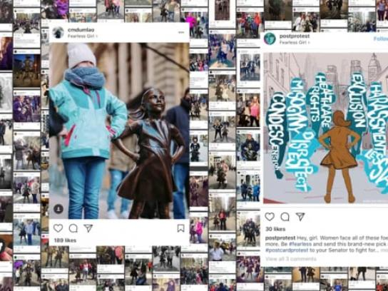 State Street Global Advisors Content Ad - Fearless Girl