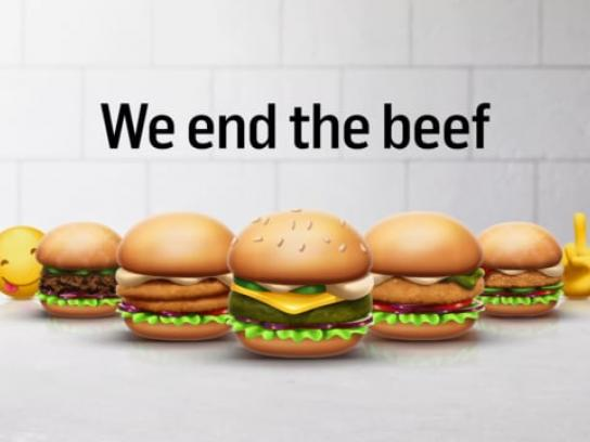 Max Burgers Digital Ad - Green Emojis