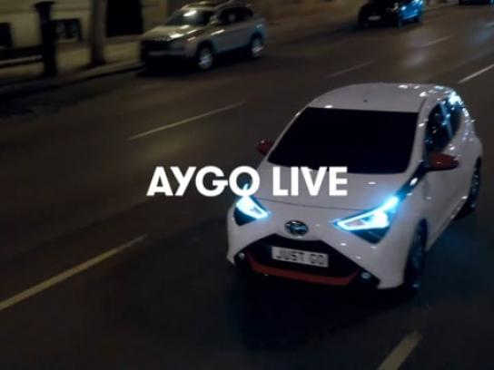 Toyota Experiential Ad - AYGOLIVE