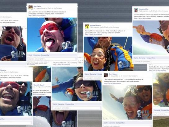 Sky Company Skydiving Digital Ad -  Air Check In