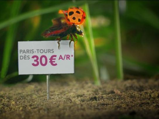 SNCF Outdoor Ad -  Micro Prices, Ladybug