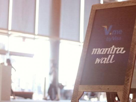 Visa Ambient Ad -  Mantra Wall
