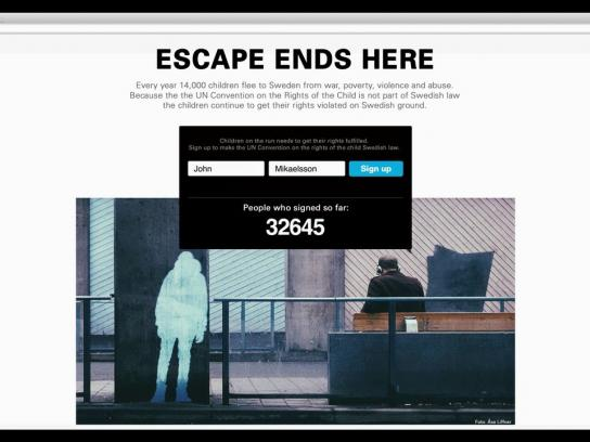 Unicef Ambient Ad -  Escape Ends Here