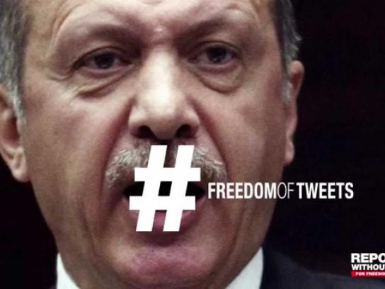 Reporters Without Borders Digital Ad -  Freedom of tweets – Erdogan