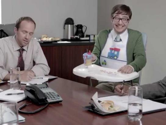 Progressive Insurance Film Ad -  Spoon feeding