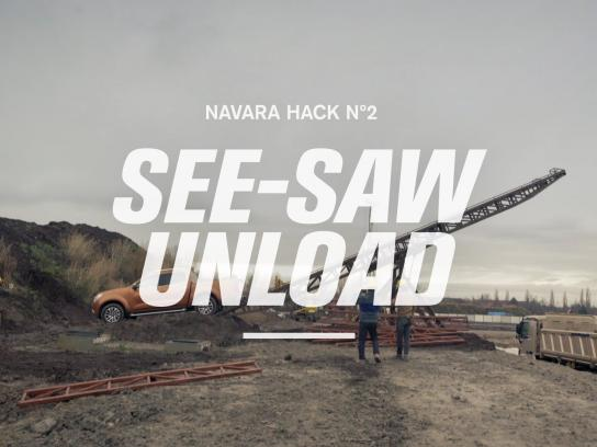 Nissan Digital Ad -  Work Hack - See-saw Unload
