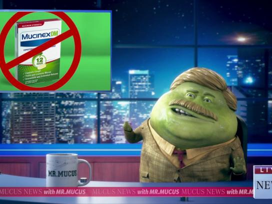 Mucinex Film Ad - Breaking News