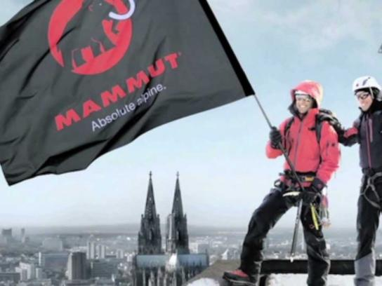 Mammut Ambient Ad -  Cologne Store Opening Campaign