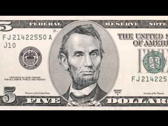 American Institute of CPAs Film Ad -  5 Dollar Bill