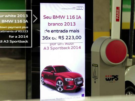 Audi Ambient Ad -  Instant Valuation Billboard
