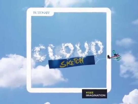 Pictionary Ambient Ad -  Cloud Sketch