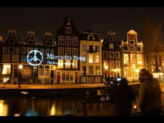 Mercedes Ambient Ad -  Creating day at night